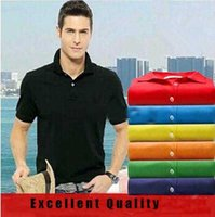 Wholesale red high waisted shorts - New Brand Designer Polo Shirts High Quality Luxury Brand Polo Men Shirt Big Size M-3XL Short Sleeve Summer Casual Cotton Polo Shirts Mens