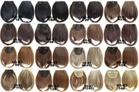 Wholesale black hair fashion online - Fashion Europe and the United States chemical fiber high temperature wire two long bangs fake delivery source hot grams