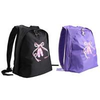 Kids Girls Sports Bags Ballet Dance School Gym Backpack Toe Shoes  Embroidered Shoulder Bag Dance Backpack for ballet 6ad912ce49cd7