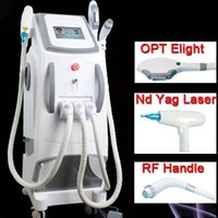 Wholesale multifunctional hair removal for sale - Group buy 3 in Multifunctional OPT laser E Light ND YAG Laser hair removal skin rejuvenation pigment removal laser tattoo removal