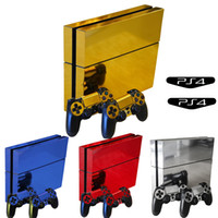 ingrosso ps4 console decalcomania della pelle-OCDAY Vinyl Protector Cover Skin Stickers Decal per Sony Playstation Play Station 4 Console PS4 e due skin per controller