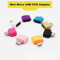 adaptador de unidad flash usb al por mayor-Mini Micro USB al adaptador del adaptador de OTG del USB para los teléfonos de Android Ratón Teclado Memorias USB del USB