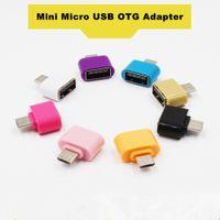 mikro usb otg flaş toptan satış-Mini Mikro USB USB OTG Adaptör Dönüştürücü Için Android Telefonlar Fare Klavye USB Flash Sürücüler