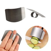 Wholesale knife cutting finger protector - Stainless Steel Finger Protector Guard Safe Slice Kitchen Accessories Cooking Gadgets Knife Cutting Finger Protection Tools MMA217