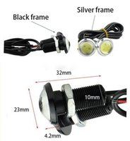 kamera frekansı toptan satış-LED Kartal göz 23mm lamp12v Araba led DRL Gündüz Koşu ışık kaynağı Park Uyarı Işığı