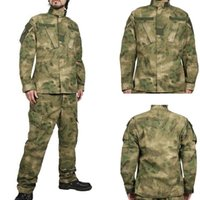 uniformes do exército negro venda por atacado-Kryptek Preto Caça Camuflagem Tático Do Exército Homens Roupas de Manga Longa Camisa de Uniforme de Combate Uniforme Ao Ar Livre FG