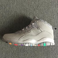 Wholesale fashion boots online - 10 Cool Grey Basketball Shoes 10s X Im Back Men Sports Shoes Training Boots Fashion Running Shoes Mens Athletics Online Cheap Sale with box