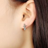 горячий ток оптовых-30 пара/Лот горячий продавать электрокардиограмма уха шпильки сердце текущий моделирование мода позолоченные женщины корейский Оптовая лучшая цена серьги