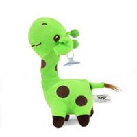 Wholesale deer giraffe - 1 Pcs 18CM Cute Plush Giraffe Lovely Animal Deer Doll for Car Interior Ornament Accessories