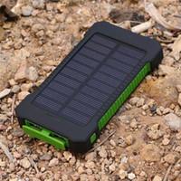 carregador de choque venda por atacado-DCAE Real 20000 mAh Power Bank resistência à queda de Choque À Prova D 'Água Dual USB Carregador Solar de Viagem PowerBank Para Android telefone inteligente
