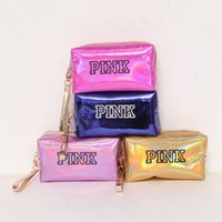 Wholesale tools direct for sale - Rainbow Color Pink Wallet Portable Rectangle Cosmetic Storage Bags Dust Proof Mini Coin Purse Factory Direct Sale sl KK