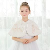 Wholesale Ivory Feather Wedding Shawl - Luxurious Princess Girl Feather Shawl Fur Wraps Marriage Shrug Coat Bride Winter Wedding Party Boleros Jacket Cloak