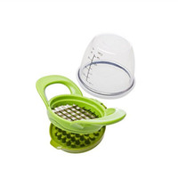 sebze dilimleri toptan satış-Yeşil Sarımsak Dilimleme Yaratıcı Verimli Sebze Meyve Değirmenleri Çok Fonksiyonlu Manuel Kıyma Moda Mutfak Aksesuarı 9 8wf XY