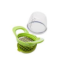 sebze değirmeni toptan satış-Yeşil Sarımsak Dilimleyiciler Yaratıcı Etkili Sebze Meyve Değirmenleri Çok Fonksiyonlu Manuel Kıyma Moda Mutfak Aksesuarı 9 8wf XY