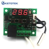thermostate hitzegekühlt großhandel-DC 12V Digitaler thermischer Temperatur-Thermostat-Temperaturschalter Temperaturregler Miniatur-Temperaturregler