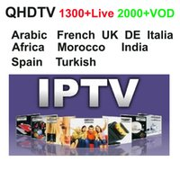 Wholesale Receiver Android - 1300+ Full European Arabic French IPTV Account subscription 1 Year Spain Lebanon UK support mag250 m3u Android APK QHDTV VOD films,USB wifi