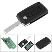 Wholesale citroen key button - 433MHz 3 Buttons Keyless Uncut Flip Remote Key Fob with ID46 Chip and HU83 Blade CE0536 for Citroen C3 C4 C5 Models KEY_10H