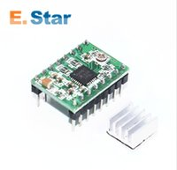 Wholesale Module Driver Motor - green version 100pcs lot Reprap Stepper Driver A4988 Stepper Motor Driver Module with Heatsink Free Shipping A81