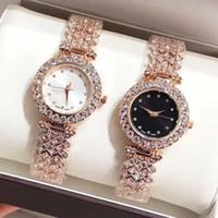 Wholesale luxury diamond battery for sale - Group buy 2018 New Fashion brand watch with full diamond Luxury women wristwatch rose gold silver hot sale brand bracelet wristwatch Relojes De Marca