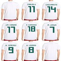 Wholesale r h - Mens Womens Kids Custom 2018 World Cup Mexico Soccer Jerseys 7 M. LAYUN 8 H. LOZANO 9 R. JIMNEZ 14 CHICHARITO Football Jerseys