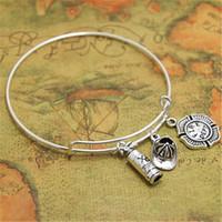Wholesale firefighter gifts - 12pcs lot Fire Department bracelet Firefighter Charm bangles adjustbale Firefighter Jewelry, Fireman