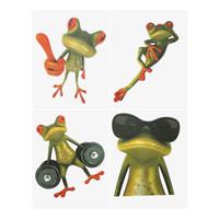 rana pegatinas de coches al por mayor-Cartoon 3D Frogs Pegatinas y calcomanías para automóviles Accesorios para carros Accesorios Accesorios para exteriores Funny Decoration Sticker 4 Estilos