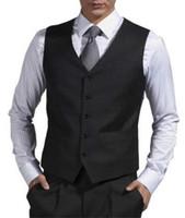 erkekler için yeni stiller toptan satış-Siyah Resmi Erkekler Yelek Custom Made Düğün Damat Yelek Suits 2018 Düğün Balo Yemeği Yelek Yeni Stil