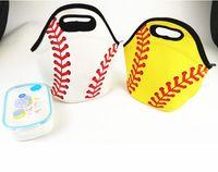 çanta sporları soğutur toptan satış-Neopren Beyzbol Öğle Yemeği Çantası Spor Softbol Tote Yalıtımlı Soğutucu Çanta Öğrenciler Çocuklar Çocuklar Gıda Taşıyıcı Saklama Çantası Su Geçirmez Çanta SN1808