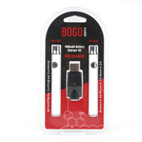 e sigara buharlaştırıcı şarj cihazı toptan satış-BOGO LO VV Pil Şarj Kiti 400 mAh 220 mah Ön Isıtma vape Pil E Sigara Buharlaştırıcı Kalem Fit 510 konu Atomizer AC1003 G2 Kartuşları