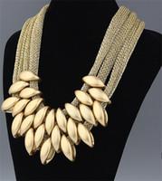 ingrosso grande corda in oro 14k-Collana a ciondolo a corda in acrilico color oro elegante con collana a ciondolo a forma di stella a caldo europeo pop