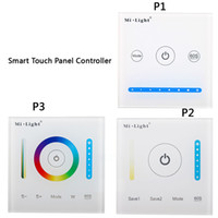 12v led touch panel dimmer großhandel-AC / DC 12V-24V P1 P2 P3 Glas Smart Touchscreen Panel Controller Dimmen Bedienfeld für CCT / RGB / RGBW / RGB LED-Streifenlicht
