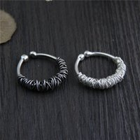 Wholesale Handmade Rings Silver - designer jewelry fashion charms 925 sterling silver rings Handmade Woven ring men and women retro Personality vintage wholesale china direct