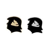 broches de pano venda por atacado-Criativo Trump Paródia Emoji Difícil Esmalte Pin Expression Broches De Metal Pinos Emblema Para Mochila Pano Acessórios Jóias Mulheres Homens