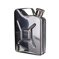 neue hüftkolben großhandel-Neuer Großhandel 5oz Edelstahl Jerry Can Mini Flachmann Alkohol Whisky Pocket Bottle + Trichter Freeshipping C1