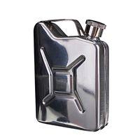 yeni hip şişeler toptan satış-Yeni Toptan 5 oz Paslanmaz Çelik Jerry Mini Hip Flask Likör Viski Cep Şişe + Huni Freeshipping C1