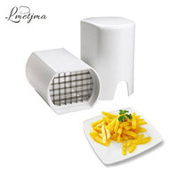 Wholesale chip french - Lmetjma Stainless Steel French Fry Cutter Kitchen Potato Chip Cutter Slicer Fries French Fry Potato Cutter Kitchen Tools Lk0730c
