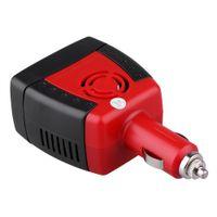 12v dizüstü bilgisayar şarj cihazı toptan satış-150 W Araba Power Inverter Dönüştürücü Şarj USB 2.1A DC 12 V AC 220 V Mobil Laptop için