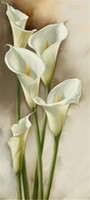 Wholesale Lily Canvas Paintings - Mosaic home decoration flower calla Lily diy diamond painting cross stitch kit rhinestone full square diamond embroidery zxh1409