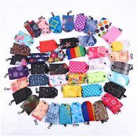 Wholesale folding shopping bag polyester online - Pocket Square Shopping Bag Eco friendly Folding Reusable Portable Shoulder Handbag Polyester for Travel Grocery Bags MMA954