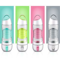 Wholesale humidifier bottle - LED Light Smart Water Bottle Tracks Water Intake Glows to Remind You to Stay Night lights Humidifier Sos Emergency Sport Mug Cup Kettle
