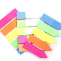 klebrige notizzettel großhandel-Bunte Haftnotizen PET Memo Pad fluoreszierende Post Klebrige Notizen Office School Kids Cute Book Marker
