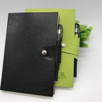 Wholesale thick notepad - 25kPU buckle notebook office supplies 80g thick paper notebook gift a gel pen simple and convenient 20.8*14.2*1.4cm