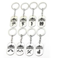 Wholesale cars cartoon games - 8 Styles Game Fortnite Keychain key holder Metal Keyring Stainless Steel Pendant Collection key ring EEA477 320PCS