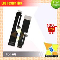 iphone tester flex toptan satış-100 adet / grup Yüksek Kalite LCD Ekran Ekran Testi Dokunmatik Ekran Uzatma Test Flex Kablo iPhone 6/6G ücretsiz kargo