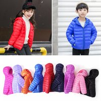 Wholesale boys outerwear coat for sale - Group buy 9colors Children Solid Candy Color Down Coat Winter kids frivolous jackets windproof Hooded Overcoat outerwear boys Girls AAA868