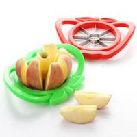 freies fruchtmesser geschnitten großhandel-Obst Slicer Apple Edelstahl Äpfel Messer Cut Obst Neue Ankunft Kreative Früchte Slicers Küche Neuheit Obst Slicer Freies Schiff