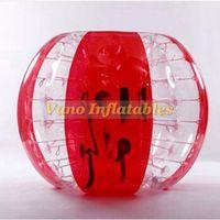 inflables tpu bolas al por mayor-Bubble balón de fútbol TPU calidad Knockerball inflable parachoques Loopyball 1.2 m 1.5 m 1.8 m envío gratis