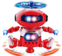Wholesale best electronic dance music for sale - Group buy Newest Dancing Robert Electronic Toys With Music And Lightening Best Gift For Kids Model toy space robot dance creative