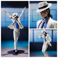Wholesale one piece gift box - No Box 16cm S.H.Figuarts Michael Jackson Figure Toy SMOOTH CRIMINAL MJ Moonwalk Beat It Billie Jean Collection Model for Fans Gift
