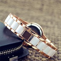 Wholesale led watches for girls - M*K wristwatches Korean fashion girls watch ceramic students bracelet watch for woman girl student quartz watches big M series watch